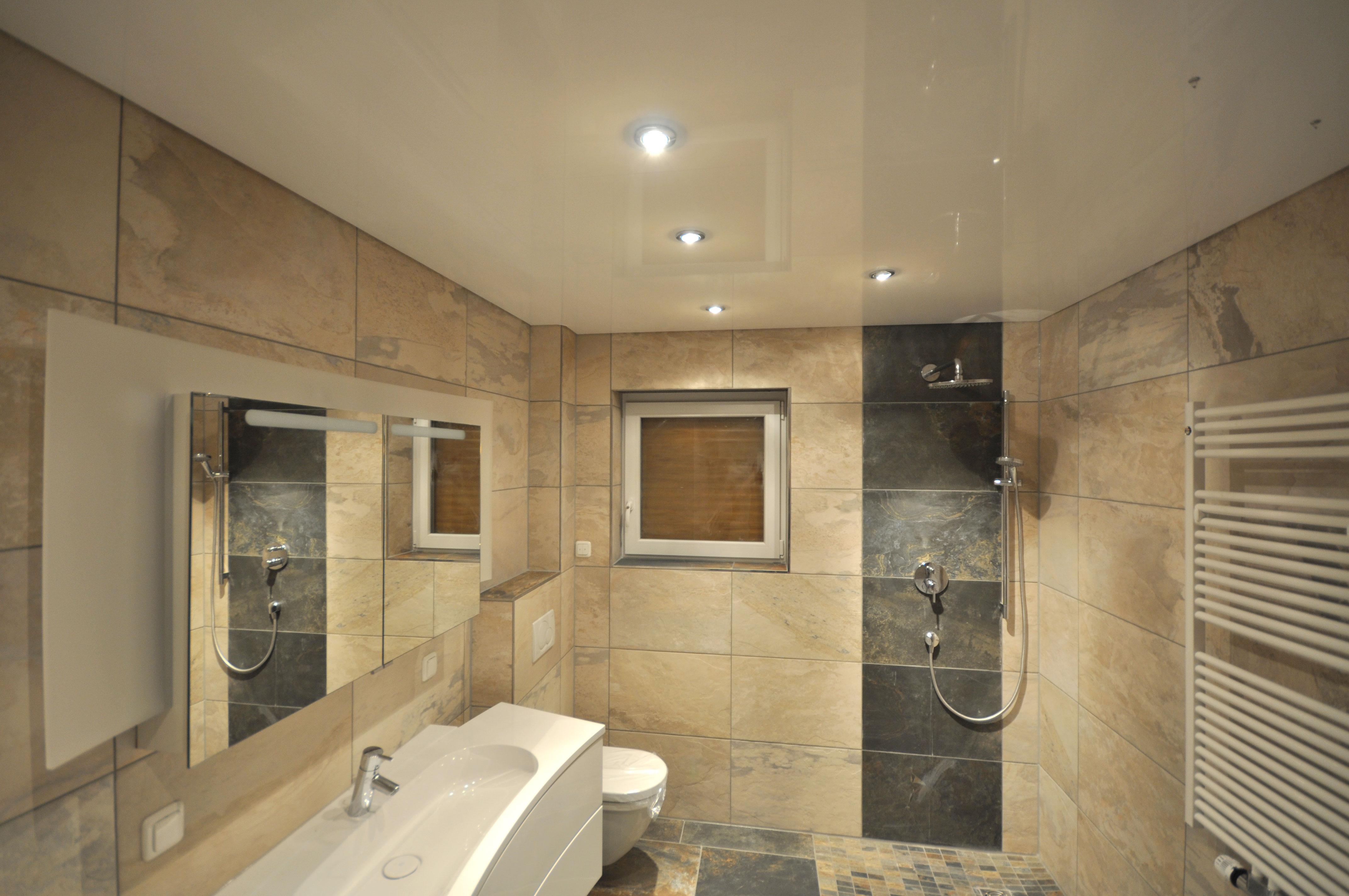 Spanndecken im Badezimmer | Spanndecken Duesseldorf Dortmund